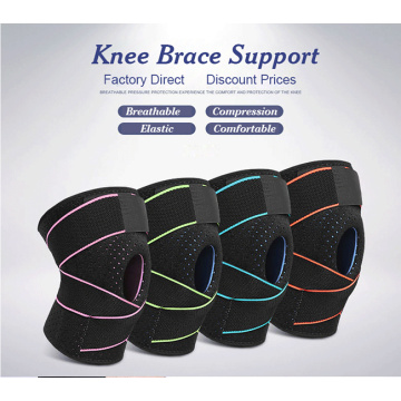 Patellar silica gel shock absorption Knee brace
