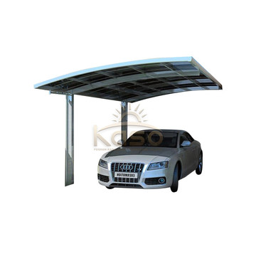 Frame Polycarbonate Roof Two Car Canopy Metal Garage Carport