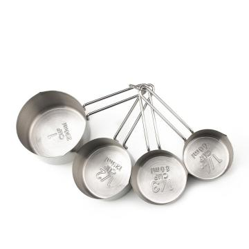 4 Piece Stainless Steel Measuring Spoons Cups Set