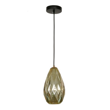 Modern gold and rose Glass Decorative Pendant Lamp