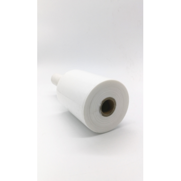 White handle stretch wrap film