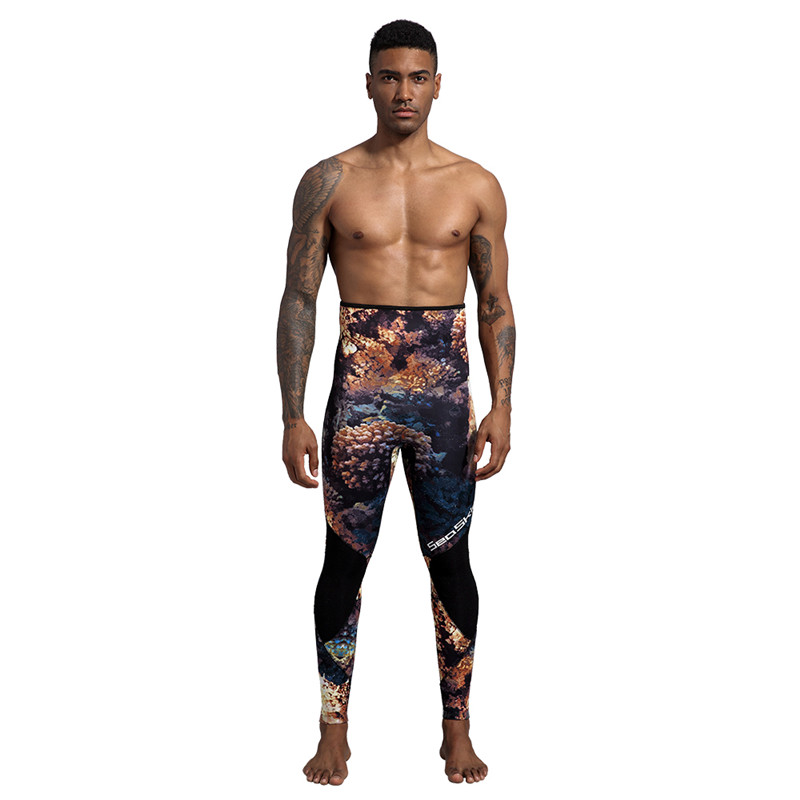 Dw014 Seaskin Two Pieces Camo Wetsuit 10 1