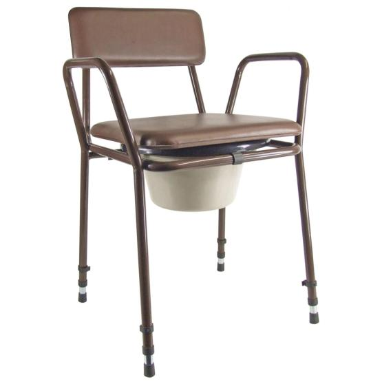 Stacking Commode Height Adjustable
