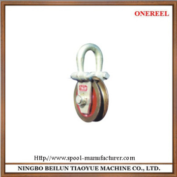 Heavy duty wire pulley block