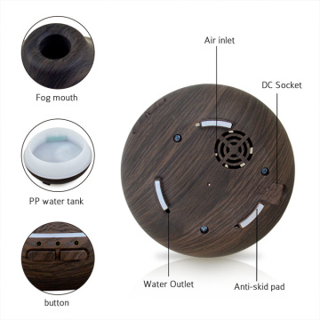Mini Wood Grain Ultrasonic Cool Mist Air Humidifier