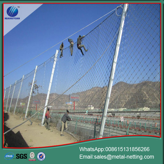 rock barrier fence rockfall netting