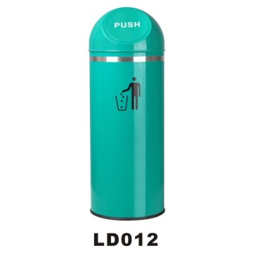 High Quality Stainless Steel Hand Push Bin, Dustbin