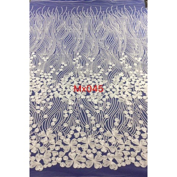 New Design Floral Embroidered Tulle Fabric