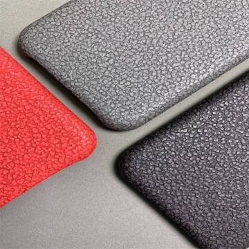 Stone Embossed Hologram Faux Leather for Electronic Package
