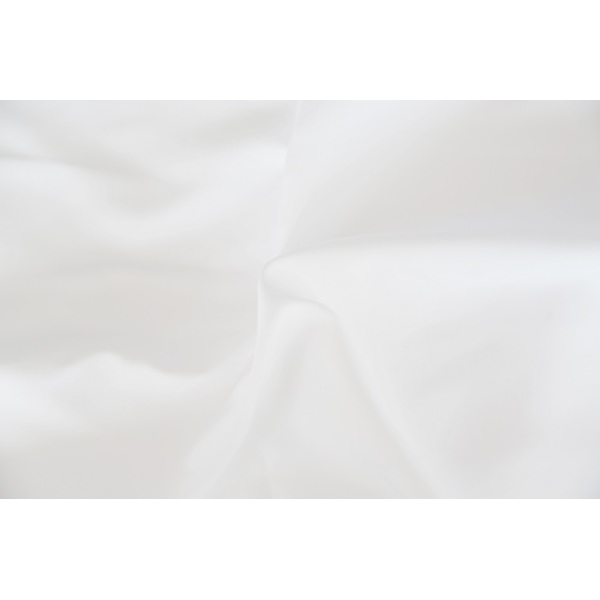 100% Polyester Anti Bacterial Treatment White Fabric