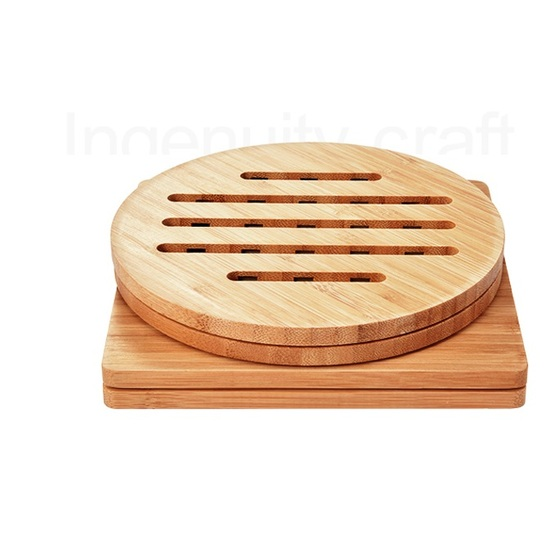 Bamboo Coaster with Stand