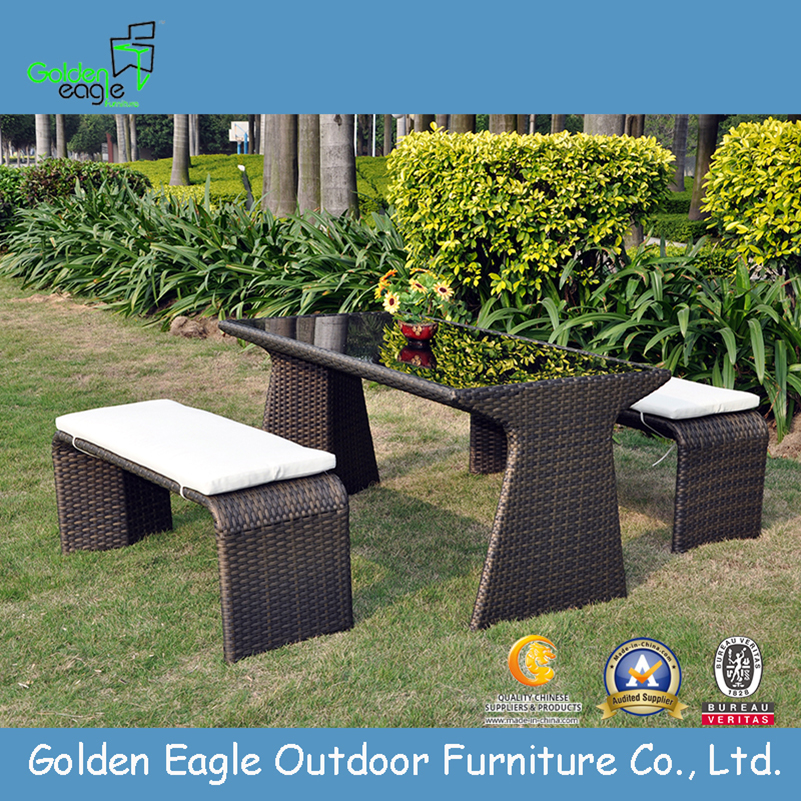 Outdoor long bench set