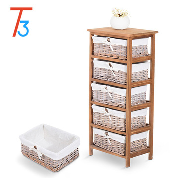 outdoor balcony storage wood cabinet with many drawers