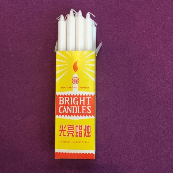 Cellophane Pack Home Use Pure Snow White Candle