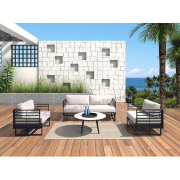 4pcs aluminum with HPL top garden sofa