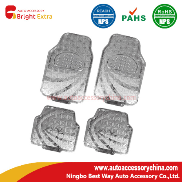 New! Metallic Silver Car Floor Mats