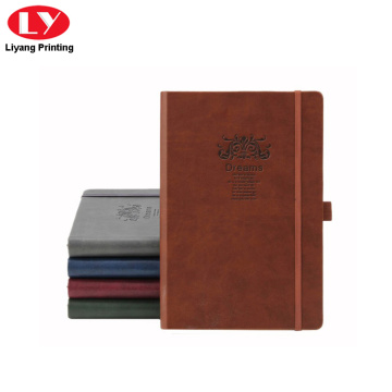 PU cover notebook printing with elastic