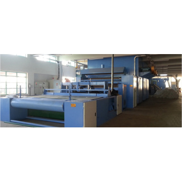 Spray-bonded/chemical bonded waddings oven production line