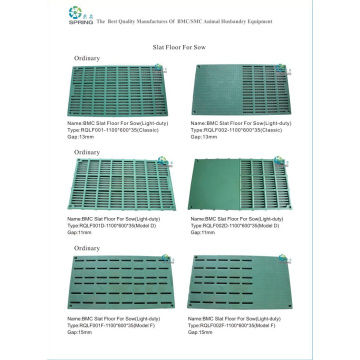 Durable Pig Slat Floor Plastic Composite BMC Floor