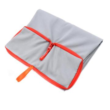 custom anti slip microfiber yoga towel with zipper