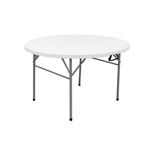 Light Commercial Fold-in-Half Round Table 4 Feet White