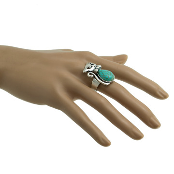 Women's Fashion Cat Zircon Synthetic-Turquoise Ring