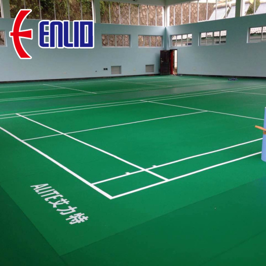 High Quality Enlio Badminton PVC Court Mats