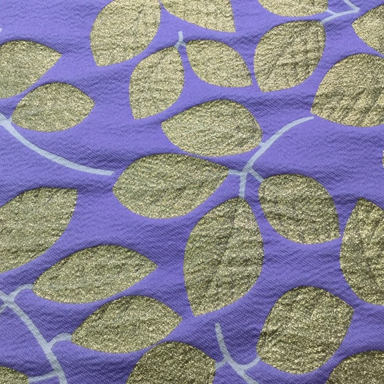 Purple Strecth Jacquard Brocade for Dress