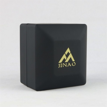 Pure Black Plastic Ring Box with LED Light