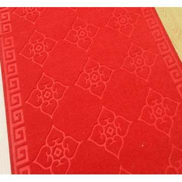 Easy clean polyester wall to wall embossed carpet