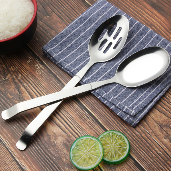 Kitchen stainless steel buffet serving spoon set