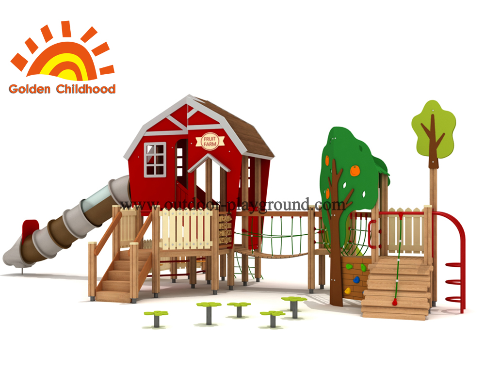 Red Playhouse Outdoor Playground Equipment For Sale3