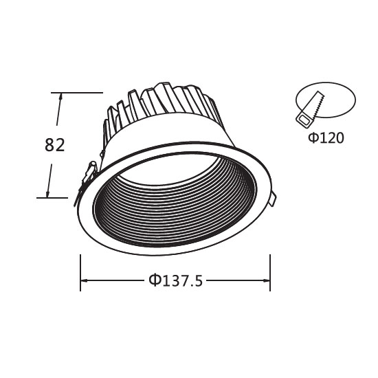 Surface Mounted Closet Light Fixtures 15W