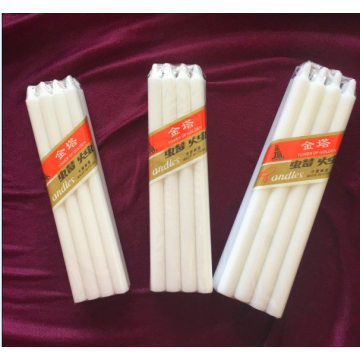 6PCS white small larger  wax strong candles