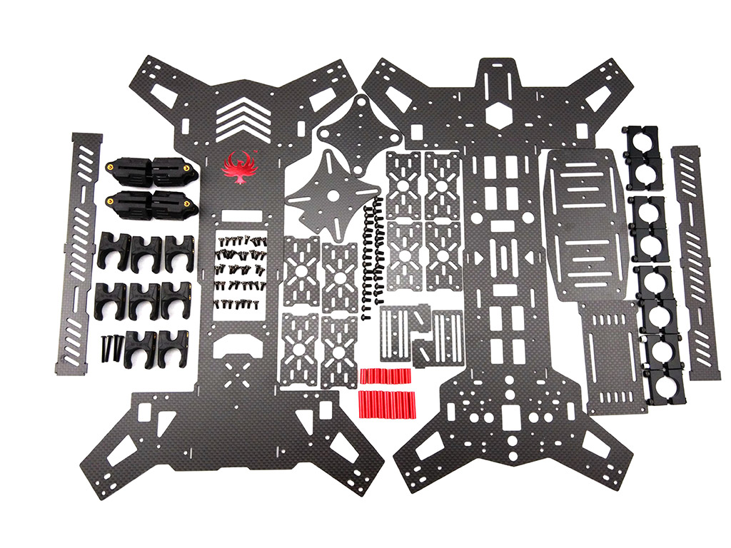 680mm Foldable Carbon Fiber Quad Copter Frame