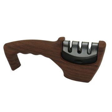 Wood Pattern 3-Stage Kitchen Knife Sharpener