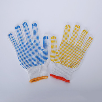 Safety PVC Dotted Cotton Gloves Garden