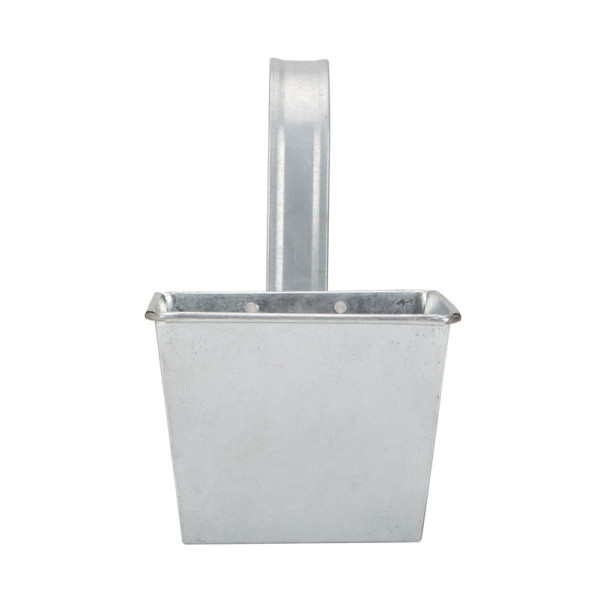 Galvanized decorative railing flower pot