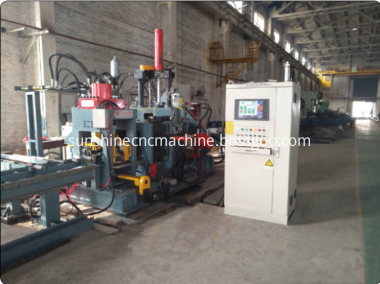 steel plate hole punching line