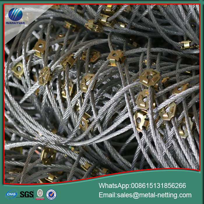galvanized rope mesh protection rope netting