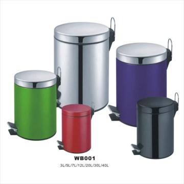 Stainless Steel Pedal Wastebin with PP Bucket and Bottom