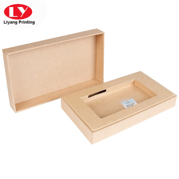 Custom brown paperboard cellphone packing box