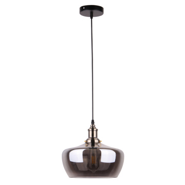 Post Modern Gray Glass Shade Indoor Hanging Lamp