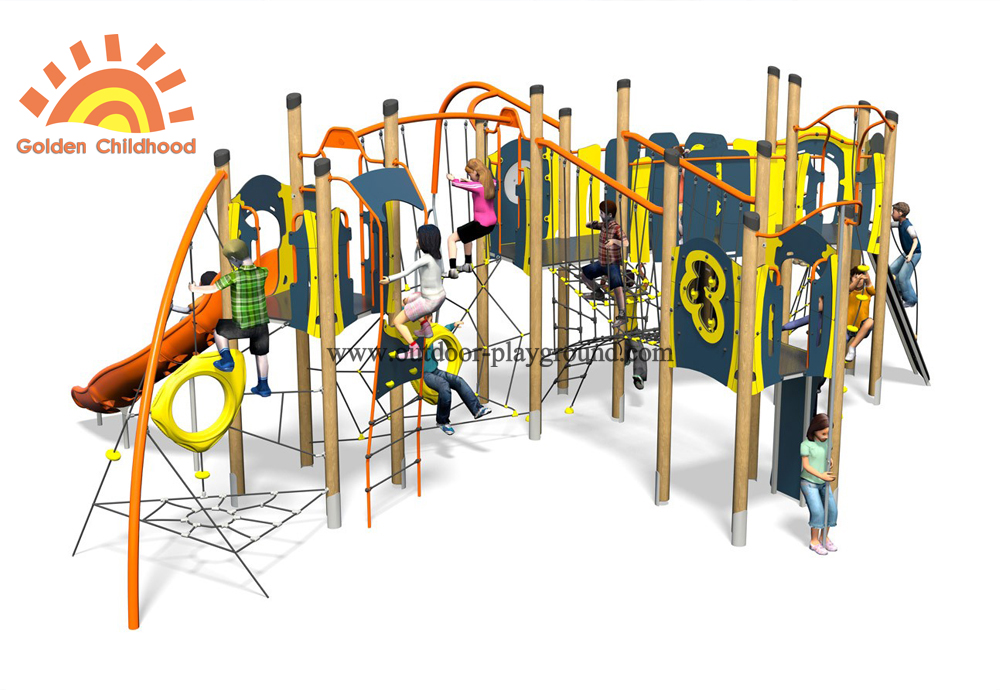 Outdoor Climbing Slide Playground Structure
