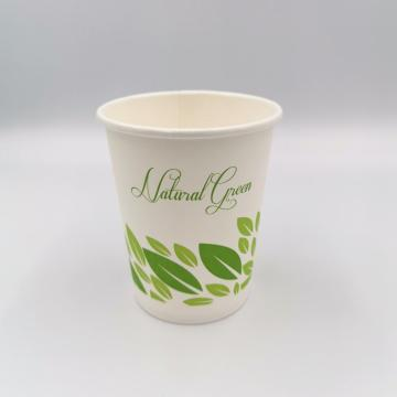 Disposable 100% Biodegradable Coffee Paper Cup 8oz