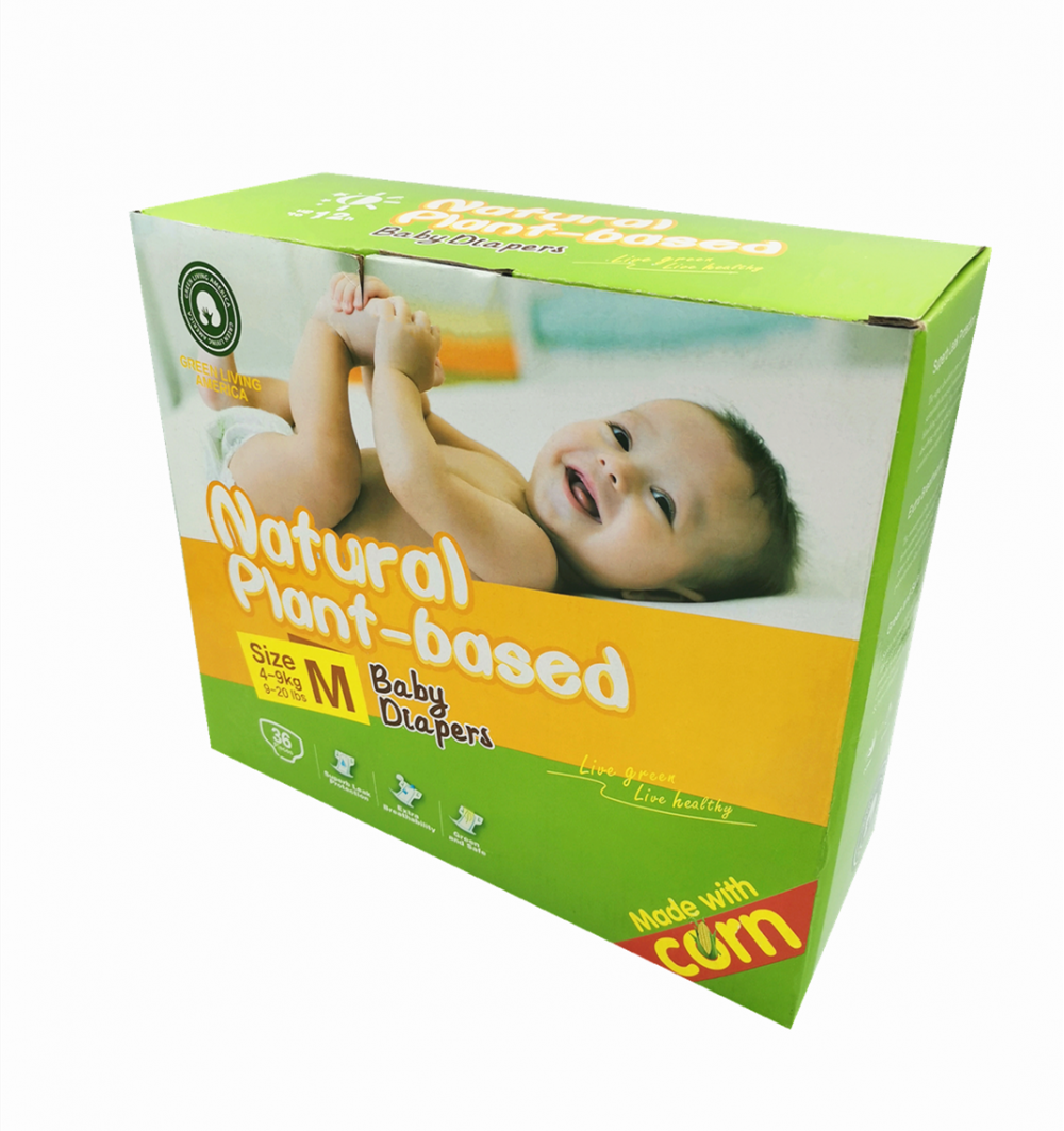 Eco-friendly Chlorine-Free TCF Diapers