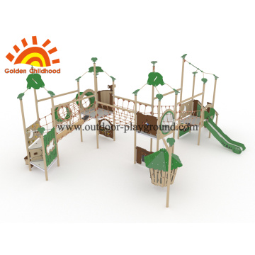 HPL Children Multiply Net Bridge With Swing Playhouse