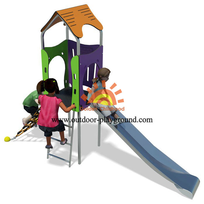 small backyard play structures slide