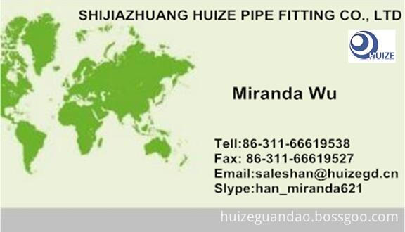A105 Half Coupling business card