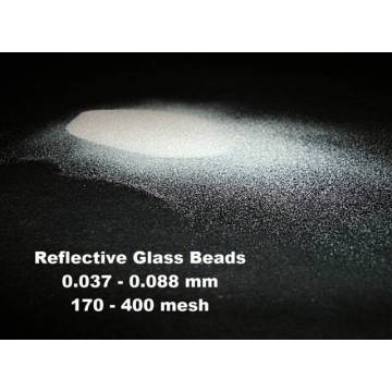 Adhesive Glass Beads With Coating